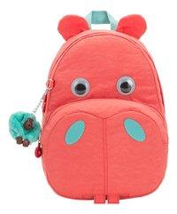 Kipling rugzak Hippo Peachy Pink C-Vooraanzicht