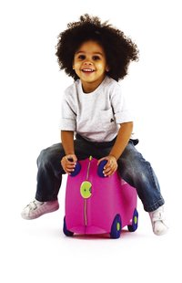 Trunki harde trolley TrunkiRide-on Trixie roze-Afbeelding 1