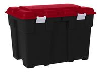Allibert Boîte de rangement Explorer noir/rouge 185 l
