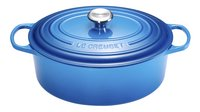Le Creuset Ovale stoofpan Signature bleu marseille 27 cm - 4,1 l-Vooraanzicht