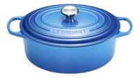 Le Creuset Ovale stoofpan Signature bleu marseille 31 cm - 6,3 l-Vooraanzicht