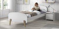 Vipack table de nuit Kiddy blanc-Image 1