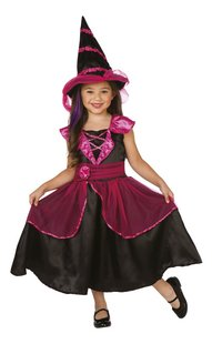 Verkleedpak heks roze/zwart