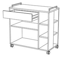 Demeyere Meubles Keukentrolley Indus eikdecor-product 3d drawing