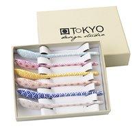 Tokyo Design Studio 6 theelepels Star & Wave blauw/paars/roze