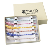 Tokyo Design Studio 6 cuillers à thé Star & Wave bleu/mauve/rose