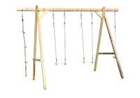 BnB Wood houten schommel Tilff-Vooraanzicht
