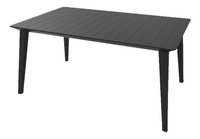 Allibert Table de jardin Lima gris graphite L 160 x Lg 97 cm-Avant