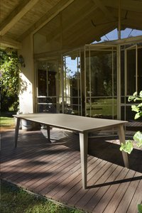 Allibert Table de jardin Lima cappuccino L 240 x Lg 97 cm-Image 1