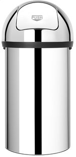 Brabantia poubelle Push Bin 60 l acier brillant-Avant