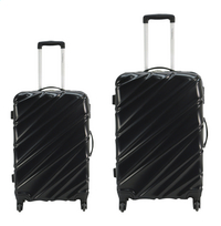 Transworld Harde trolleyset Curty Spinner black-Vooraanzicht