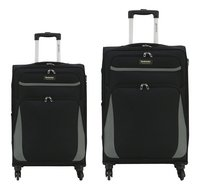 Transworld Zachte trolleyset Expandable Two Spinner black
