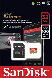 SanDisk geheugenkaart microSDHC Extreme 32GB Class 10 A1 V30 U3-Vooraanzicht