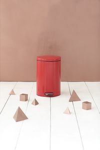 Brabantia pedaalemmer 20 l Passion Red-Afbeelding 1