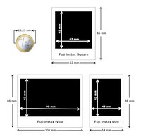 Fujifilm 10 photos Black Frame pour Instax SQUARE-Détail de l'article
