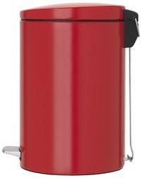 Brabantia poubelle à pédale 20 l Passion Red-Côté gauche