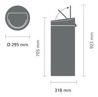 Brabantia Afvalemmer Touch Bin New matt black/inox 30 l-Artikeldetail