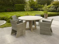 Table de jardin Desvres Grey Wash diamètre 150 cm-Image 1