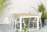 Table de jardin Selena blanc L 220 x Lg 100 cm-Image 4