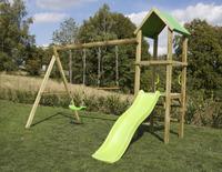 BnB Wood portique Little Eden avec toboggan Lime-Image 2
