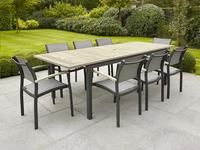 Chaise de jardin Creil gris argenté/anthracite-Image 1