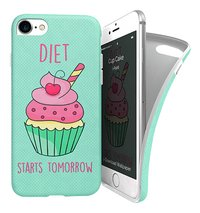 i-Paint coque Cup Cake Soft Case iPhone 7