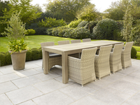 Table de jardin Lens Grey Wash 280 x 100 cm-Image 2