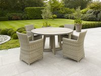 Table de jardin Desvres Grey Wash diamètre 150 cm-Image 2