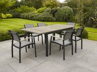 Table de jardin à rallonge Marbella grey wash/anthracite L 150 x Lg 90 cm-Image 2