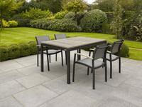 Chaise de jardin Creil gris argenté/anthracite-Image 3