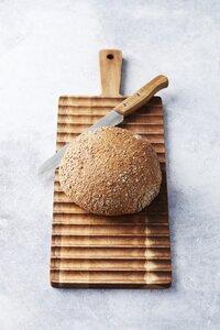 Dagelijkse kost Planche à pain L 55 x Lg 19 cm avec couteau à pain-Image 1