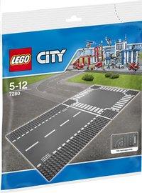 LEGO City 7280 Wegenplaten - Rechte lijn en kruispunt