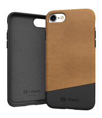 i-Paint cover iPhone 7 leder bruin