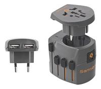 Samsonite Universele reisstekker met USB-kabel