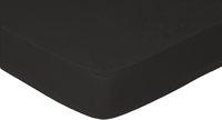 Sleepnight Drap-housse hauteur des coins 25 cm noir en coton 160 x 200 cm-Avant