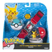 Tomy Set Pokémon Clip 'n' Carry Poké Ball Belt Pikachu