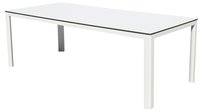 Table de jardin Sevilla blanc 220 x 100 cm