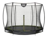 EXIT trampoline enterré avec filet de sécurité Silhouette Ground diamètre 2,44 m noir