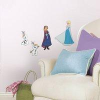 Muurstickers Disney Frozen Elsa, Anna en Olaf-Afbeelding 1
