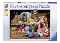 Ravensburger puzzle Chatons et tricot-Avant