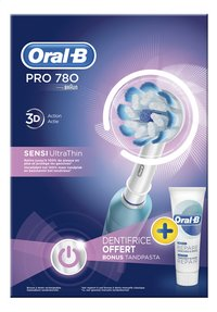 Oral-B Brosse à dents Pro 780 Blue 3D Sensi UltraThin-Avant