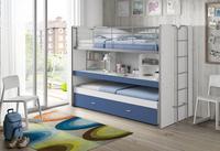 Stapelbed Bonny met bureau blauw-Afbeelding 1