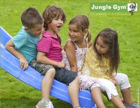 Jungle Gym Houten speeltoren Barn met blauwe glijbaan-Artikeldetail