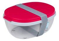 Mepal boîte à salade Ellipse Nordic Red-Côté gauche