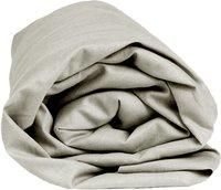 Sleepnight drap-housse pour sommiers articulés gris en coton 2 x (90 x 200 cm)-Détail de l'article