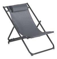 Strandstoel grijs-Vooraanzicht
