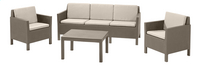 Allibert Loungeset met driezit Chicago cappuccino