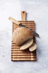 Dagelijkse kost Planche à pain L 55 x Lg 19 cm avec couteau à pain-Image 2