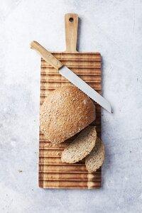 Dagelijkse kost Planche à pain L 55 x Lg 19 cm avec couteau à pain-Image 3
