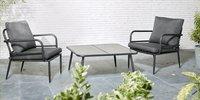 Ensemble Lounge Como noir-Image 1